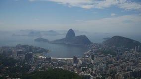 Rio de Janeiro, visión desde el Corcovado almacen de metraje de vídeo