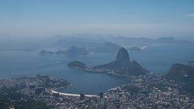Rio de janeiro, vista do Corcovado Fotografia de Stock