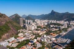 Rio de Janeiro-Vogelperspektive lizenzfreies stockfoto