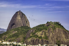 Rio de Janeiro-Vogelperspektive, Brasilien lizenzfreie stockbilder