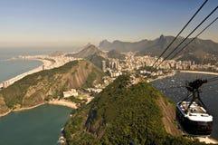 Rio de Janeiro von oben Lizenzfreies Stockbild