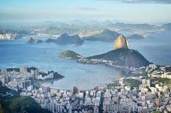 Rio de Janeiro von oben stockbild