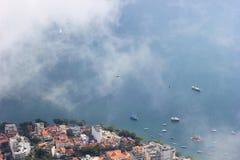 Rio de Janeiro Waterfront-haven met schepen hoogste mening stock foto