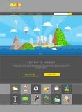 Rio de Janeiro web template vector Royalty Free Stock Images