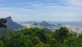 Rio De Janeiro - widok od Vista Chinesa Obraz Stock