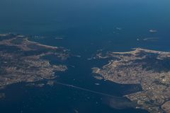 Rio de Janeiro, wonderful city. Flying by plane MORE OPTIONS IN MY PORTFOLIO royalty free stock photo