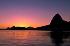 Rio De Janeiro wschód słońca Obrazy Stock