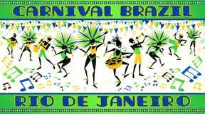 Rio de Janeirokarnevalaffisch royaltyfri illustrationer