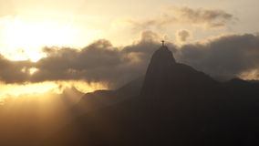 Rio de Janerio en la puesta del sol Imagenes de archivo