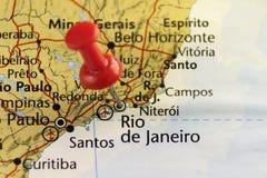 Rio de Janerio gespelde kaart Stock Foto