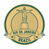Rio de Jeneiro Brasilien stämpel fotografering för bildbyråer
