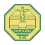 Rio de Jeneiro Brasilien st?mpel arkivfoton
