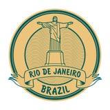 Rio de Jeneiro, de zegel van Brazilië vector illustratie