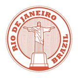 Rio de Jeneiro, de zegel van Brazili? stock illustratie
