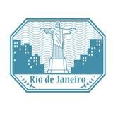 Rio de Jeneiro, de zegel van Brazili? vector illustratie