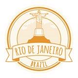 Rio de Jeneiro, de zegel van Brazili? stock afbeelding