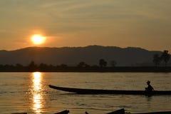 Rio de Khong Fotografia de Stock Royalty Free