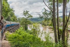 Rio de Kwai e a estrada de ferro da morte fotos de stock royalty free