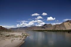 Rio de Lhasa Fotos de Stock Royalty Free