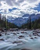 Rio de Mistaya no parque nacional de Banff, Alberta Fotografia de Stock