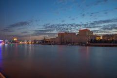 Rio de Moscou na noite Foto de Stock Royalty Free