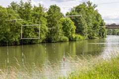 Rio de Moselle, Metz, França Fotografia de Stock Royalty Free