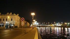 Rio de Moskva e Kremlin (na noite), Moscou, Rússia filme