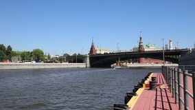 Rio de Moskva e o dia do Kremlin, Moscou, Rússia--a vista a mais popular de Moscou filme