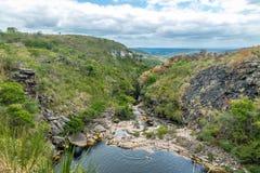 Rio de Mucugezinho em Chapada Diamantina - Baía, Brasil Imagem de Stock