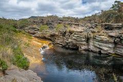 Rio de Mucugezinho em Chapada Diamantina - Baía, Brasil Imagens de Stock
