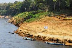 Rio de Nam Khan em Luang Prabang. Imagens de Stock Royalty Free