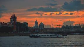 Rio de Neva em St Petersburg, Rússia Foto de Stock Royalty Free