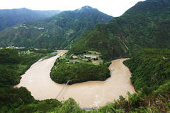 Rio de Nujiang Imagens de Stock Royalty Free