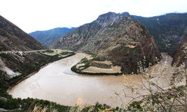Rio de Nujiang Fotografia de Stock Royalty Free