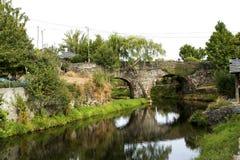 Rio de Onor Roman Bridge arkivfoto