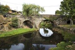 Rio de Onor Roman Bridge Stock Image