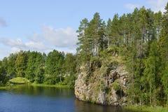 Rio de Oulankajoki Parque nacional Oulanka fotografia de stock royalty free