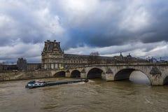 Rio de Paris Seine imagem de stock