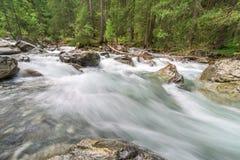 Rio de pressa da montanha Foto de Stock Royalty Free