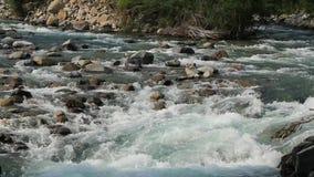 Rio de Rio Ara no Torla no vale Pyrenees Huesca Aragon de Valle de Ordesa na Espanha vídeos de arquivo