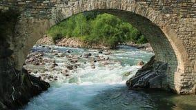 Rio de Rio Ara no Torla no vale Pyrenees Huesca Aragon de Valle de Ordesa na Espanha video estoque