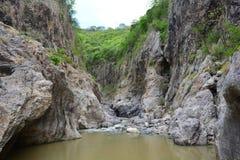Rio de Rio Coco e a garganta de Somoto, Nicarágua imagem de stock