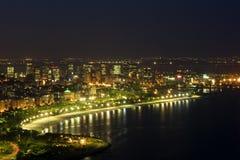 Rio DE 's nachts janeiro stock foto