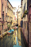 Rio de San Maurizio, one of the many small canals in Venice used Royalty Free Stock Photography