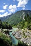 Rio de Soca/Isonzo, Eslovênia Fotos de Stock