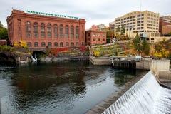 Rio de Spokane em Spokane fotografia de stock royalty free