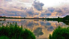 Rio de Svisloch em Bielorrússia Fotos de Stock