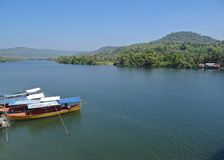 Rio de Tatai, Koh Kong, Camboja Foto de Stock Royalty Free