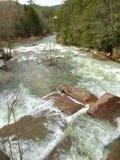 Rio de Tullulah acima do central elétrica fotografia de stock royalty free