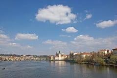 Rio de Vltava em Praga Foto de Stock Royalty Free